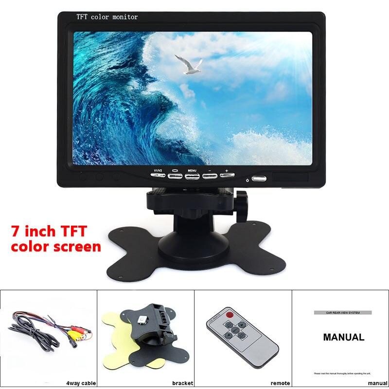TFT Tela 7 polegada LCD Portátil TV 1080 p Monitor Do Carro TV 500: 1 suporte AV/VGA/HDMI HD Ultra Fino Acessórios Do Carro