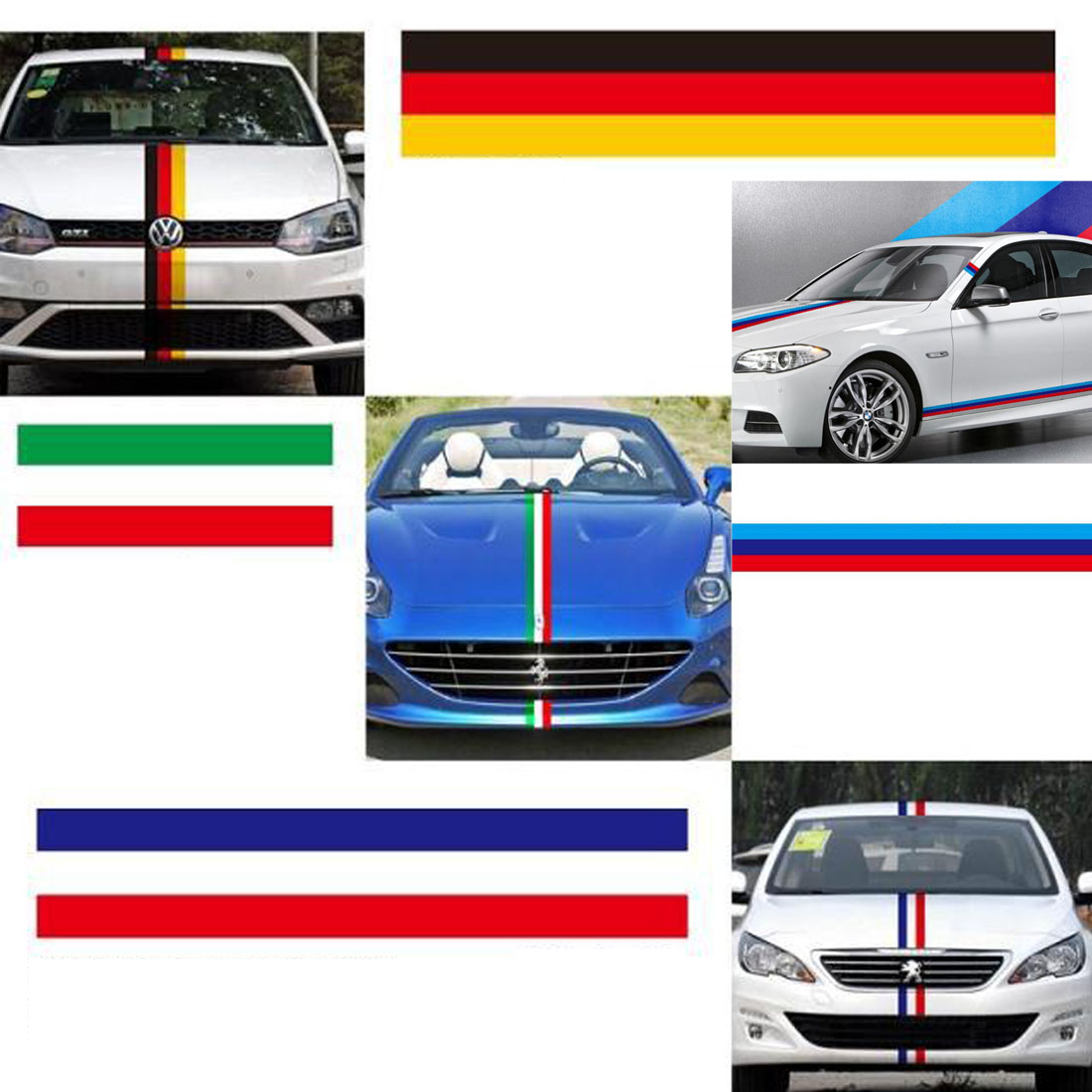 Car parking stickers design india - Dongzhen 3 Country Flag Auto Car Cover Mat Sticker For Ford Bmw Benz Toyota Volkswagen Peugeot