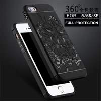 For Apple IPhone 5 5S SE Case Cover Back Covers Cases Phone Anti Knock Armor Silicon