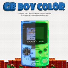 "GB Boy  game console Classic Color Colour Handheld Game Consoles 2.7"" Pocket Game Player With Backlit 66 built-in Games Mando"