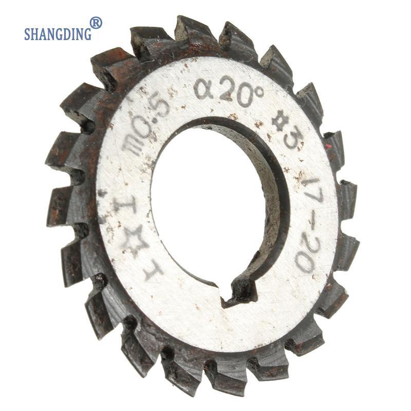 DIY Diameter 22mm M0.5 20 degree #3 Involute Gear Cutters HSS High Speed Steel Module HOT Machine Tools Accessories