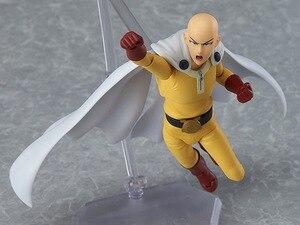 Image 5 - Anime One Punch Man Saitama Figma 310 PVC Action Figure Collectible Model Toys Birthday Gift 14cm