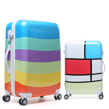 Sinterklaas 2017   Discount 20 inch Fashion Rolling luggage Women Trolley men Travel Bag Student Boarding Box Children Carry On Luggage Kids Trunk Suitcases