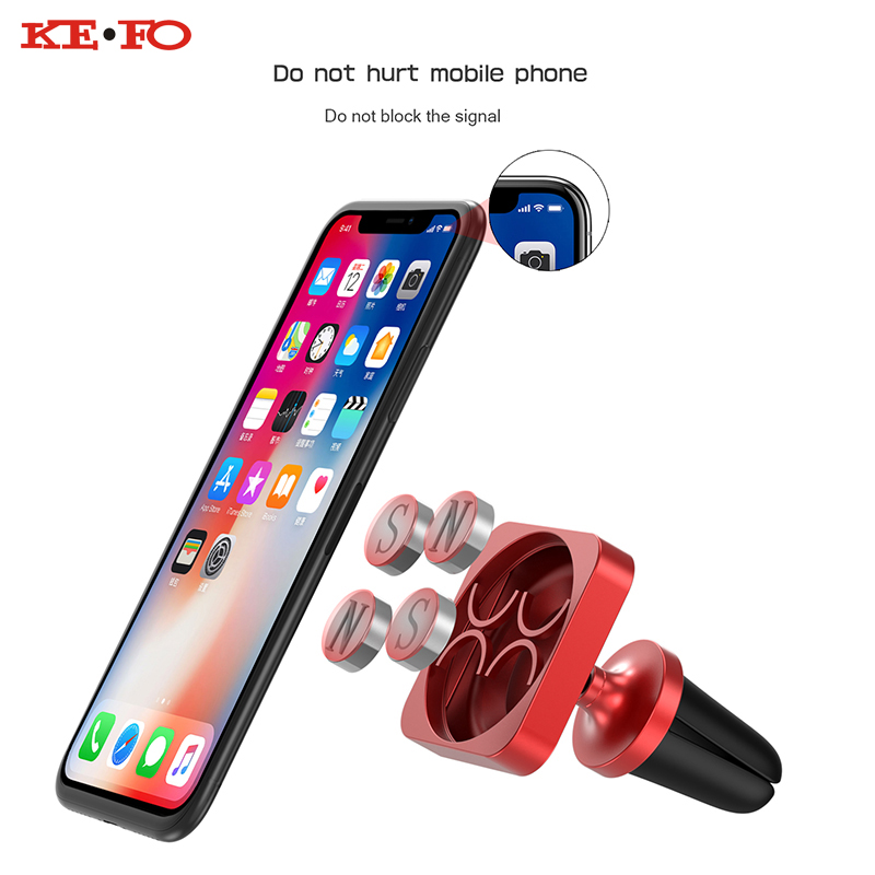 Car Phone Holder For Smartphone 360 Rotation Design Air Vent Mount Magnetic Mobile Phone Holder Stand For iPhone Samsung Xiaomi