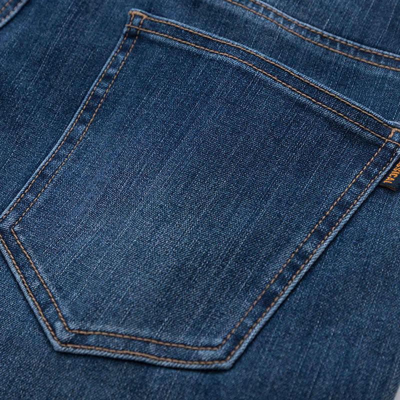 セミールジーンズ男性のための伸縮性スキニージーンズソフト綿ジーンズ洗浄モックフロントポケットとジッパーフライボタン