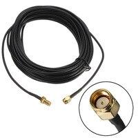 9 rg174 м стандартный РП-SMA мужчин и женщин коаксиальный кабель ПВ разъем разъем антенна беспроводной удлинитель провода позолоченные