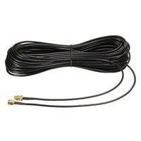 20 м удлинительные кабели SMA штекер-Женский коаксиальный удлинитель WiFi маршрутизатор Антенна Медь с позолотой кабель