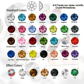 SW Diamante NO Hotfix CZ Rhinestone 8Big 8Small Strass SS10~SS34 DIY Elements Flat back Rhinestones For Nails Clothes Decoration