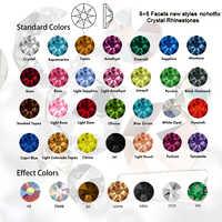 SW diamant sans Hotfix Strass, Strass 8Big 8 petits Strass SS10 ~ SS34 éléments de bricolage pour la décoration des ongles