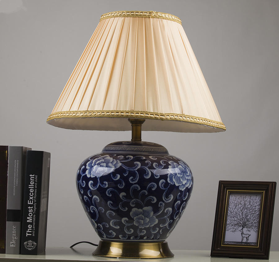 Chinese porcelain ceramic table lamp bedroom living room - Porcelain table lamps for living room ...