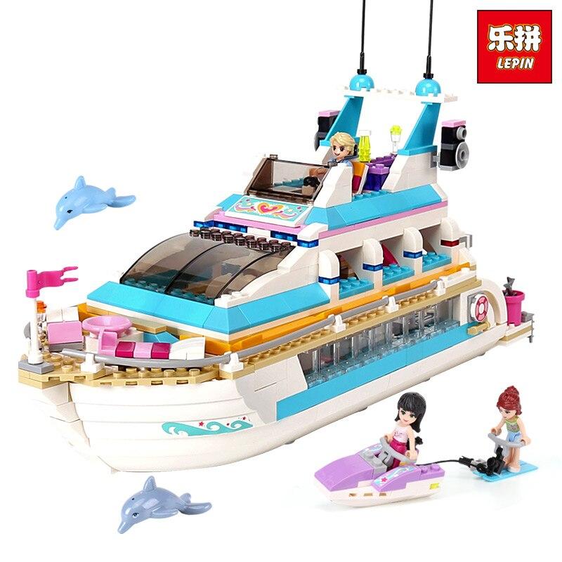 Lepin 01044 Amis Fille Série 661 pcs Blocs de Construction jouets Dauphin Cruiser enfants Briques fille cadeaux Compatible legoINGlys 41015