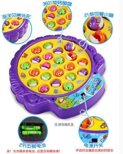 Child Toy Electric Toys Fishing Rotating Dribbling Plate Baby Educational For Children Battery Operated Sounding Electronic 2020