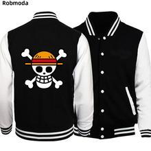 дешево!  Бомбер Куртка 2019 Весна Японского Аниме One Piece Luffy Мужская Куртка Пальто Бейсбол мужские Куртк Лучший!