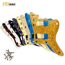 Pleroo Guitar accessories pickguards with 13 screws suit for fender Japan MIJ Jazzmaster guitar Scratch Plate Various Colors недорого