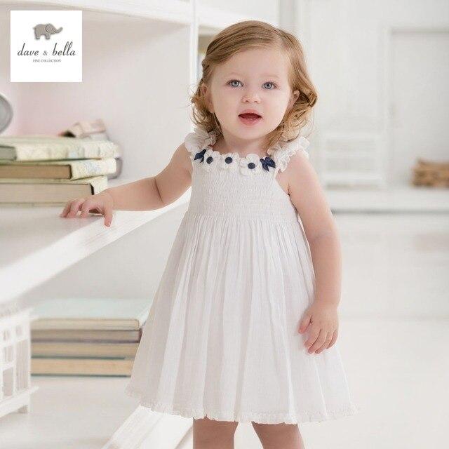 08080dba9cd DB443 dave bella summer baby girls fairy dress infant clothes girls  birthday dress toddle 1 pc