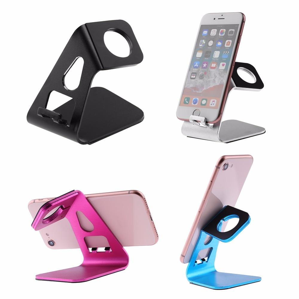 Universell aluminiumlegering Mobiltelefonhållare Skrivbordshållare för iPhone Huawei Xiaomi Tabletmonteringsstativhållare för surfplatta