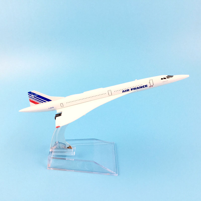 HOT SALE 16CM FRANCE CONCORDE METAL ALLOY MODEL PLANE AIRCRAFT MODEL TOY AIRPLANE BIRTHDAY GIFT CHILDREN TOYS image