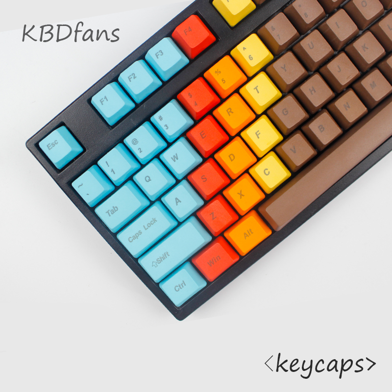 ФОТО Free shipping top printed 108 keys 1976 Mixed Color OEM Profile Thick pbt keycaps for mechaniacal keyboard laser etched legends