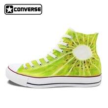 Для мужчин Для женщин Converse Chuck Taylor обувь киви ручной росписью высокие кроссовки Холст Пользовательские Дизайн уникальные подарки для мужчин женщина