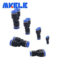 3 Way Y Type Pneumatic Air Fitting PY4/6/8/10/12mm  plastic pipe connectors with lowest price High quality 1pcs Free shipping