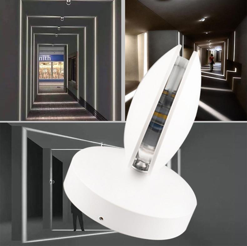 Exterieur 360 derajat Luminer 10 w Lampu Dinding Dipimpin Lampu Teras Lampu Sconce Club Bar Hotel Lorong Langit-langit ...
