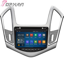 Top  Quad Core Android 5.1 Car DVD GPS For CRUZE 2013- With Mirror Link Wifi Bluetooth Free Map 16 GB Flash