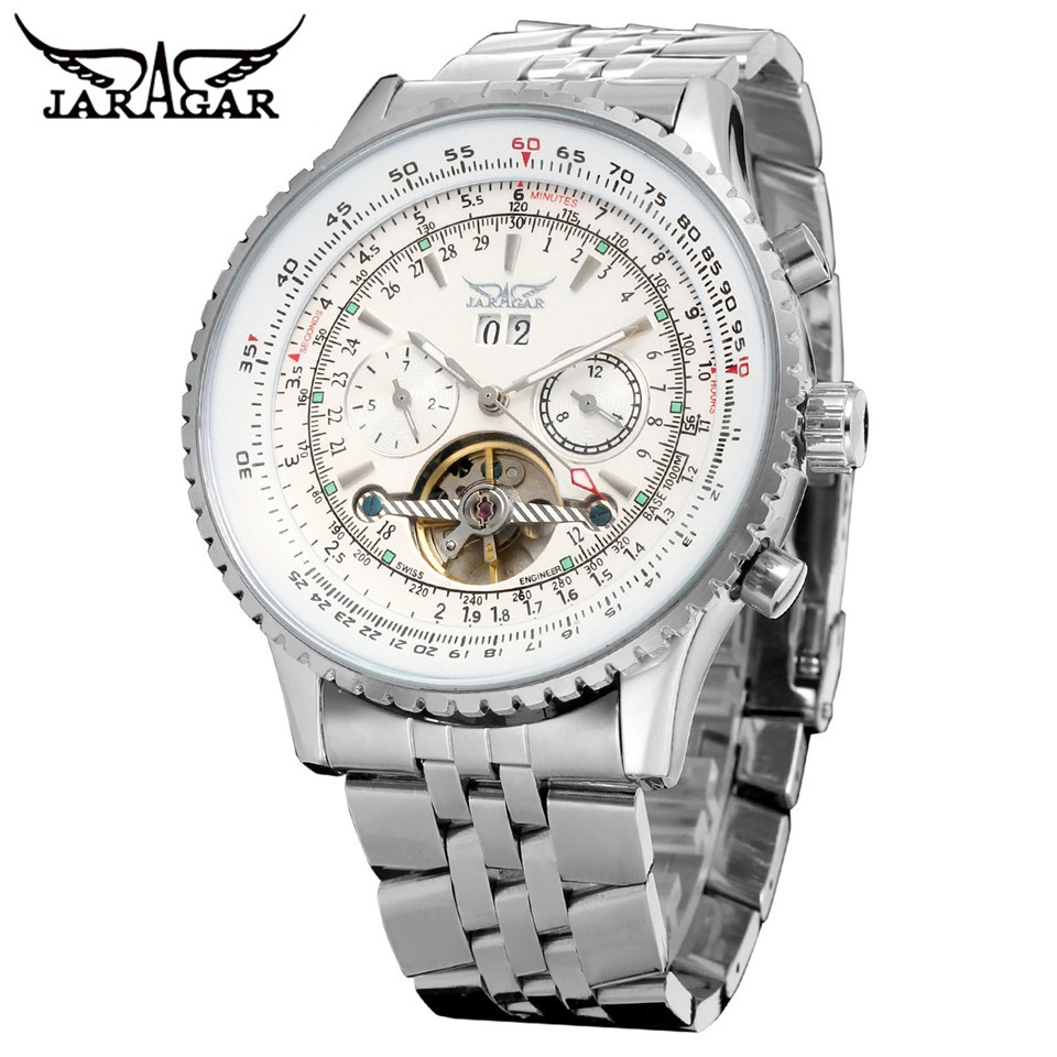 New 2017 JARAGAR Luxury Automatic Mens Multi Function font b Watch b font Mechanical font b