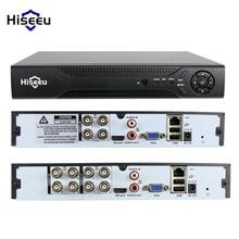 Hiseeu 4CH 8CH 1080N 5 in 1 DVR video recorder for Analog AHD camera IP camera P2P cctv system DVR H.264 VGA HDMI output XMEYE
