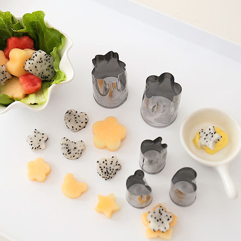 Flower vegetable fruit Cut die Flower Pattern Butterfly Patch Creative Biscuit printing Die mold Garnishes Kitchen tools Mini