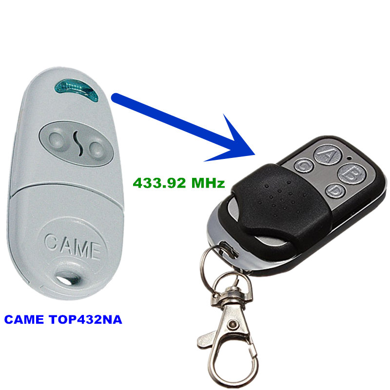 Copy CAME TOP 432NA Duplicator 433.92 mhz remote control Universal Garage Door Gate Fob Remote Cloning 433 mhz Transmitter 433 868 315 mhz garage door remote control presentation universal car gate cloning rolling code remote duplicator opener key fob