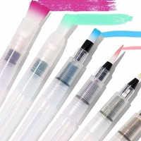 6pcs/set Water Color Brush Refillable Pen Watercolor Color Drawing Art Supply