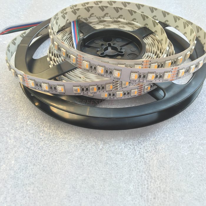 4IN1 5050 rgbw led stripe SMD RGBWW LED Tape 4 farger led Fleksibel Strip RGBNW 5M DC24V 84leds / M Gratis frakt