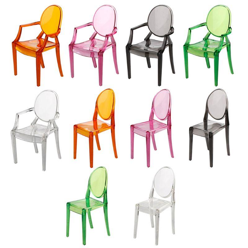 1:6 Doll House Decoration Accessory Miniature Simulation Armchair Plastic Chair