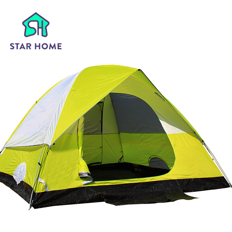 High Quality Waterproof Fiberglass Double Layer 3-4 Outdoor Camping Hiking Hewolf Beach Tent Tourist travel 2016 New china 2014shepherd 3 4 people double deck high quality outdoor camping tent