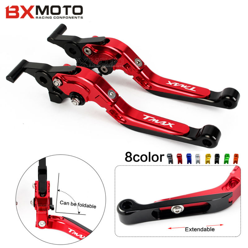 Motorcycle CNC Foldable&Extendable Brake Clutch Levers For yamaha T-MAX tmax 530 T-MAX530 tmax530 2008-2016