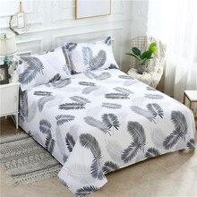 Ropa de cama con estampado de dibujos animados sábana plana pluma dibujada Lisa para cama individual/doble tamaño doble reina rey sábanas FS01 1 ud.
