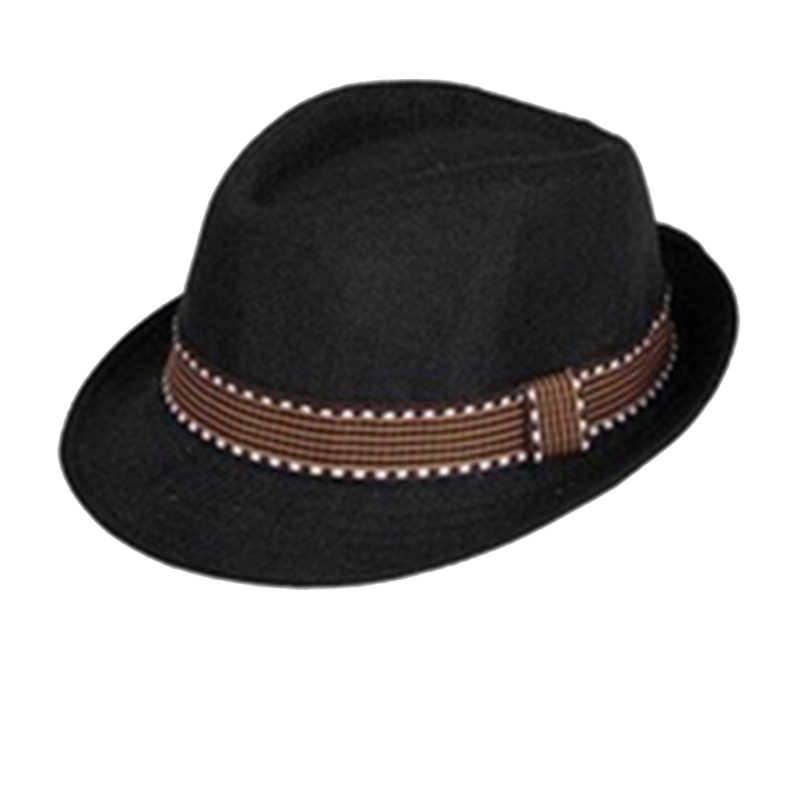 Detail Feedback Questions about Hippie Unisex Men Black Jazz Wool Trilby  Bowler Fedora Panama Hat Gangster Cap Black 2016 New on Aliexpress.com  ad0022a07a30