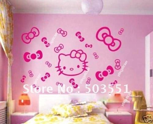 modern decor wall sticker art deco hello kitty 2-in wall stickers