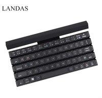 Landas Curled Flat Keyboard For Tablets Universal Wireless 3 0 Bluetooth Folding Keyboard For Samsung Smartphone
