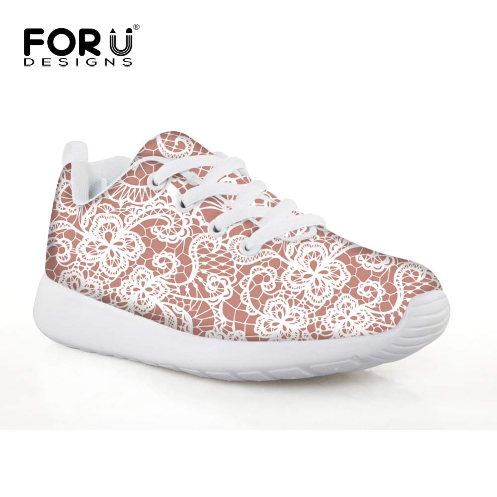 FORUDESIGNS Little Girls Athletic Tennis Shoes Anti-Slip Lightweight Comfort Kids Sport Sneakers Christmas Autumn Shoes for Baby