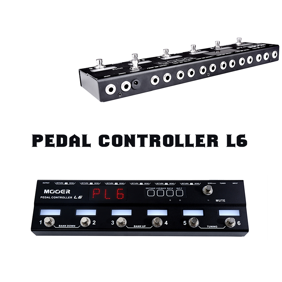 mooer pedal controller l6 guitar effects pedal with preset live modes with 2 different buffers. Black Bedroom Furniture Sets. Home Design Ideas