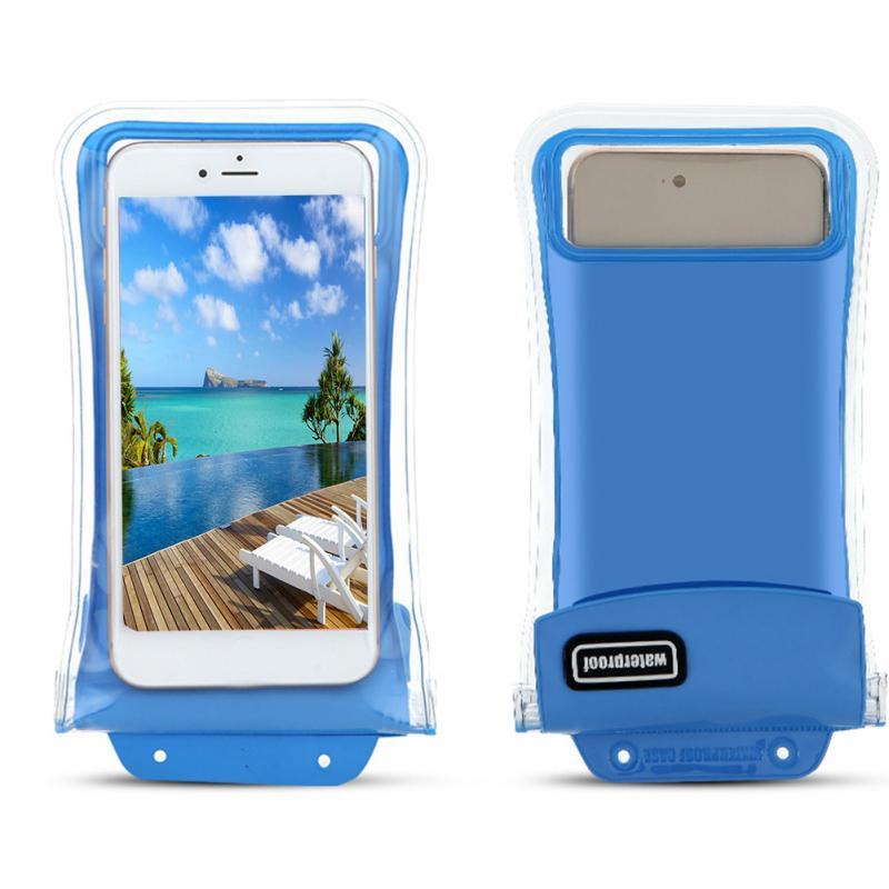 Universal Double-protection Waterproof Bag Floating Case Diving Swimming Phone Bag For iPhone For Huawei 8