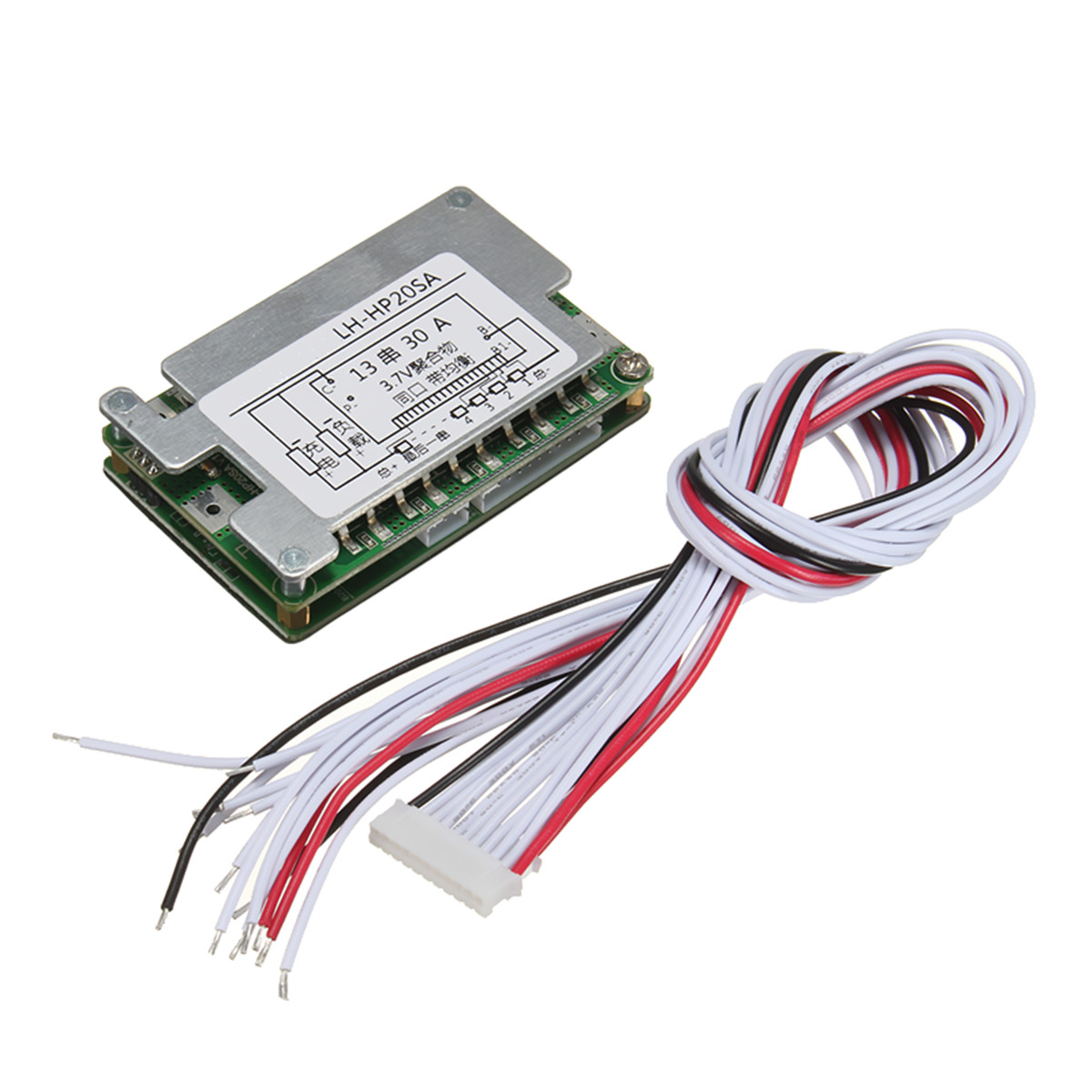 New Arrival 48v Bms 13s Li Ion Battery 30a Lithium Electronic Wiring Board Protection Balance Wire Module 70x45x15mm In Integrated Circuits From