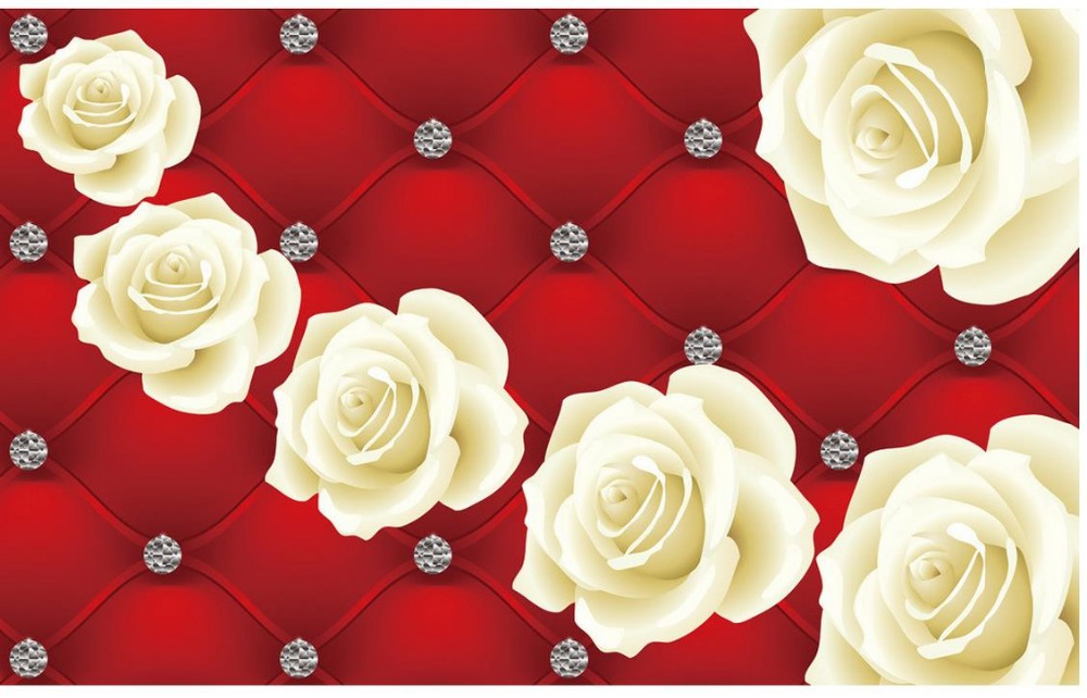 Red roses white backdrop soft pack custom 3d mural wallpaper 3d red roses white backdrop soft pack custom 3d mural wallpaper 3d wallpaper flower home decoration mightylinksfo