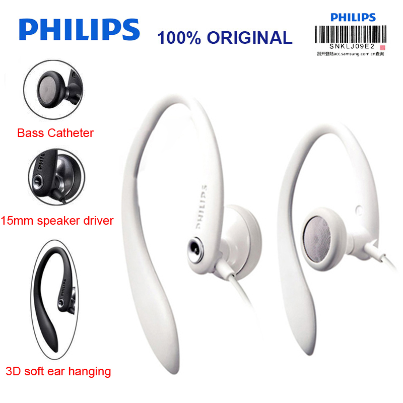 лучшая цена Philips SHS3300 Ear Hanging Type Sport Earphone with Noise Reduction Function Headsets for Music Phone Official Certification
