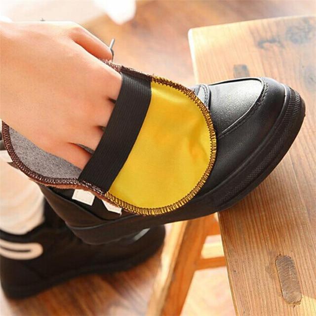 Sạch bàn chải đánh giày Mềm Mại Giả Len Giày Vải Máy Đánh Bóng Vệ Sinh Bụi Găng Tay Chải Chăm Sóc Giày 4.18