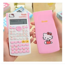 Cute Cartoon helloKitty Electronic Digit Multifunction Calculator Fashion Student Exam Scientific Function Calculator For Office