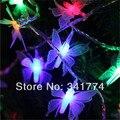 Pilas LLEVÓ colgante de Mariposa de hadas 10 m Iluminación Cuerdas Garland de Navidad Año Nuevo Boda Del Jardín Luminaria Decoración
