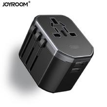 Joyroom Charger Adapter, Universal World Travel Adapter with Worldwide Multi Plug 2 USB Adaptors