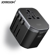 Joyroom Charger Adapter, Universal World Travel Charger Adapter met Wereldwijd Multi Plug 2 USB Adapters(China)